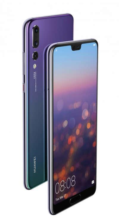 HUAWEI P20 pro 128Gb, зеленый/фиолетовый