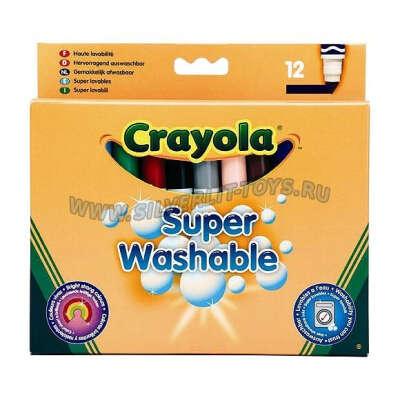 """Набор смывающихся фломастеров для малышей """"Crayola"""", 12 шт."""