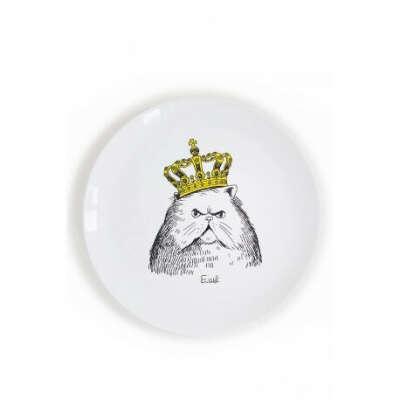 Тарелка «Кот в короне»