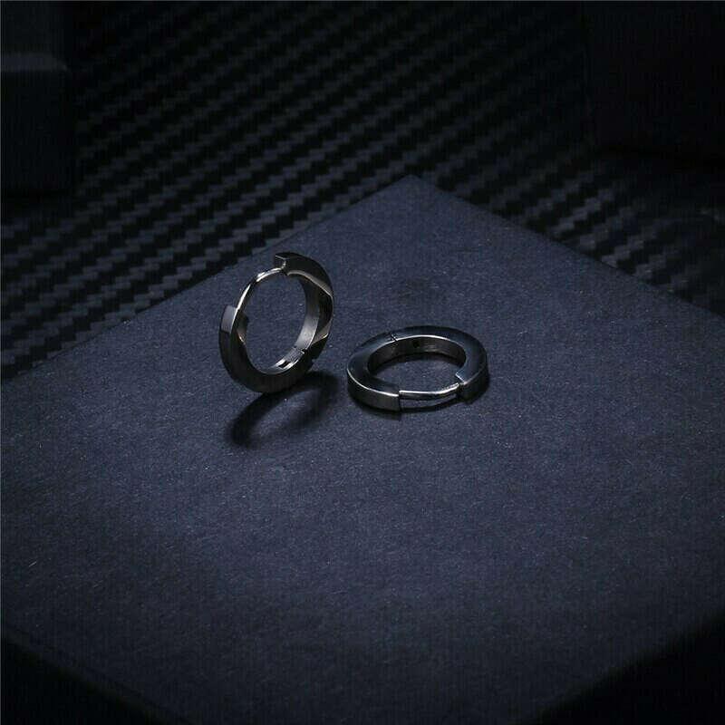 Серьги-кольца из титана