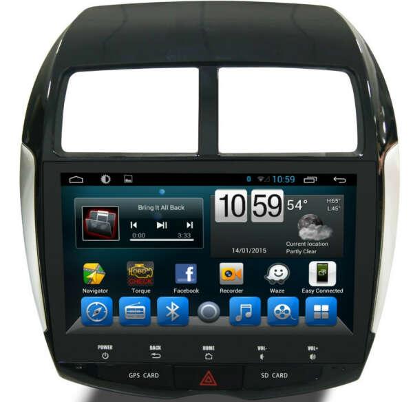 Штатная магнитола для Mitsubishi ASX, Citroen C4 AirCross, Peugeot 4008 - Carmedia KR-1046-T8 на Android 9.0, 8-ЯДЕР и 2ГБ-32ГБ (Навител в подарок !!!)