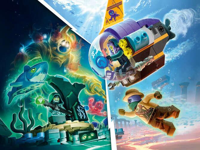 Конструктор Hidden Side™ (Хидден Сайт) 70433 Подводная лодка Джей-Би LEGO® (ЛЕГО) - купить в Сети сертифицированных магазинов LEGO, Москва