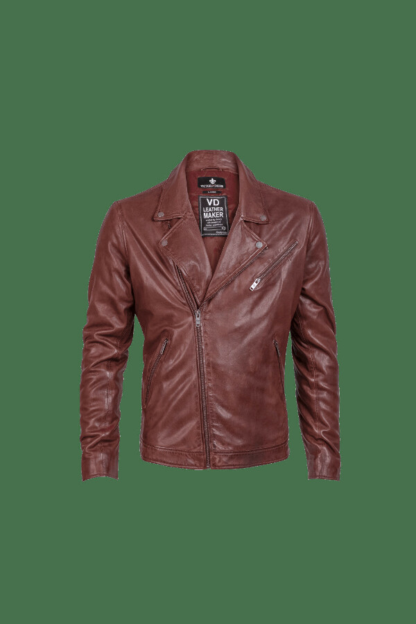 Freddie Men Classic Biker Jacket - VictorDorr
