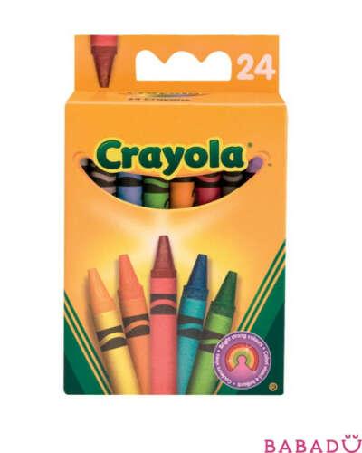 24 восковых мелка Crayola