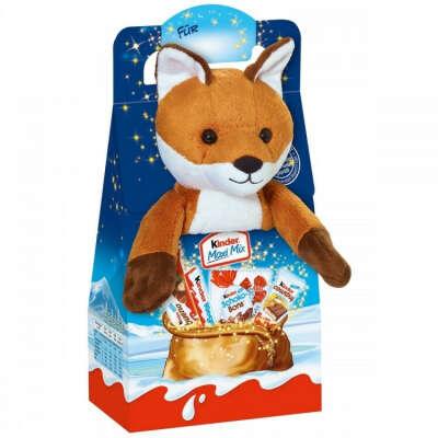 Новогодний набор Kinder Mix Plush Лисенок 133 г купить в интернет-магазине