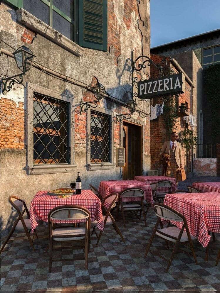 Ужин в итальянском ресторане