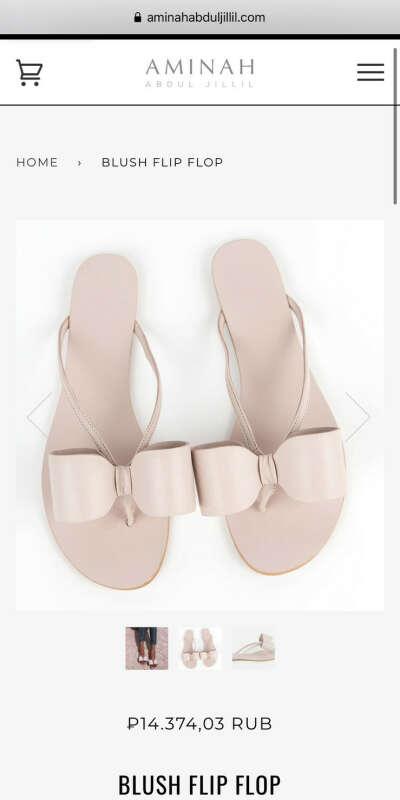 Bow flip flop Сандали