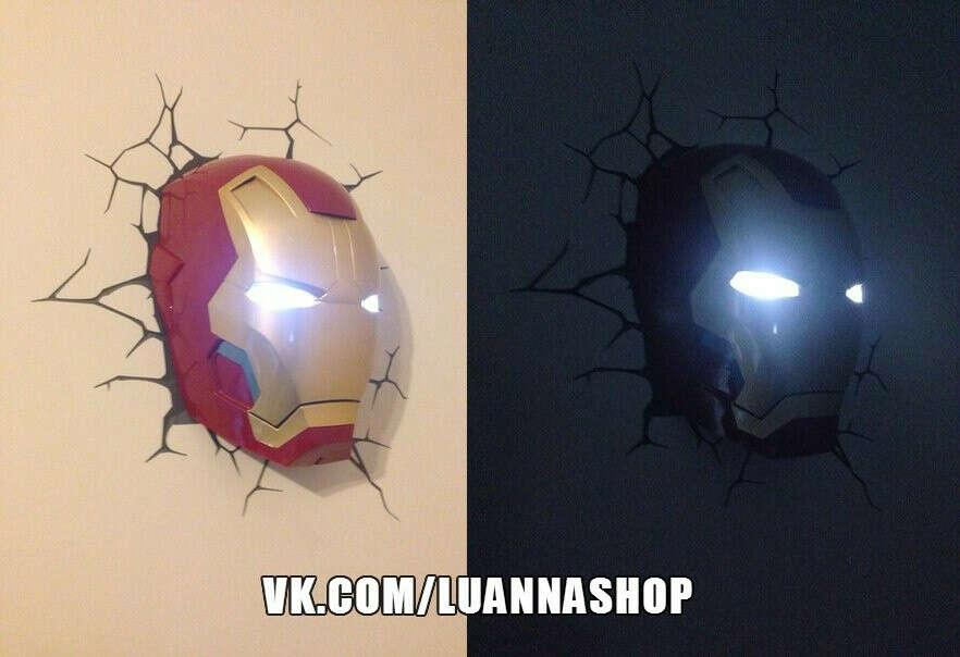 Ночник железный человек marvel iron man