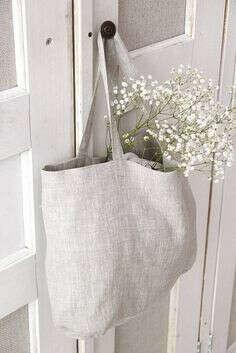 Экологичная сумка-шоппер из льна