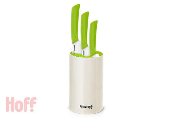Набор ножей на подставке Eco Ceramic Festival