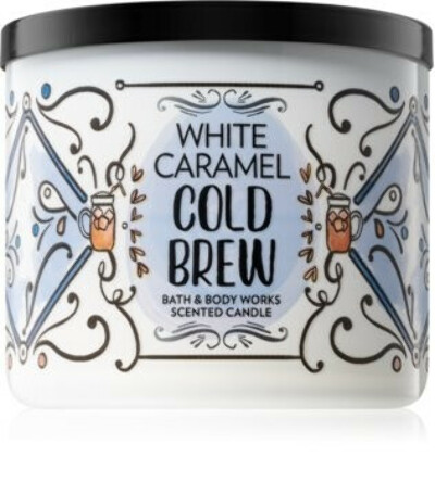 Bath & Body Works White Caramel Cold Brewscented candle