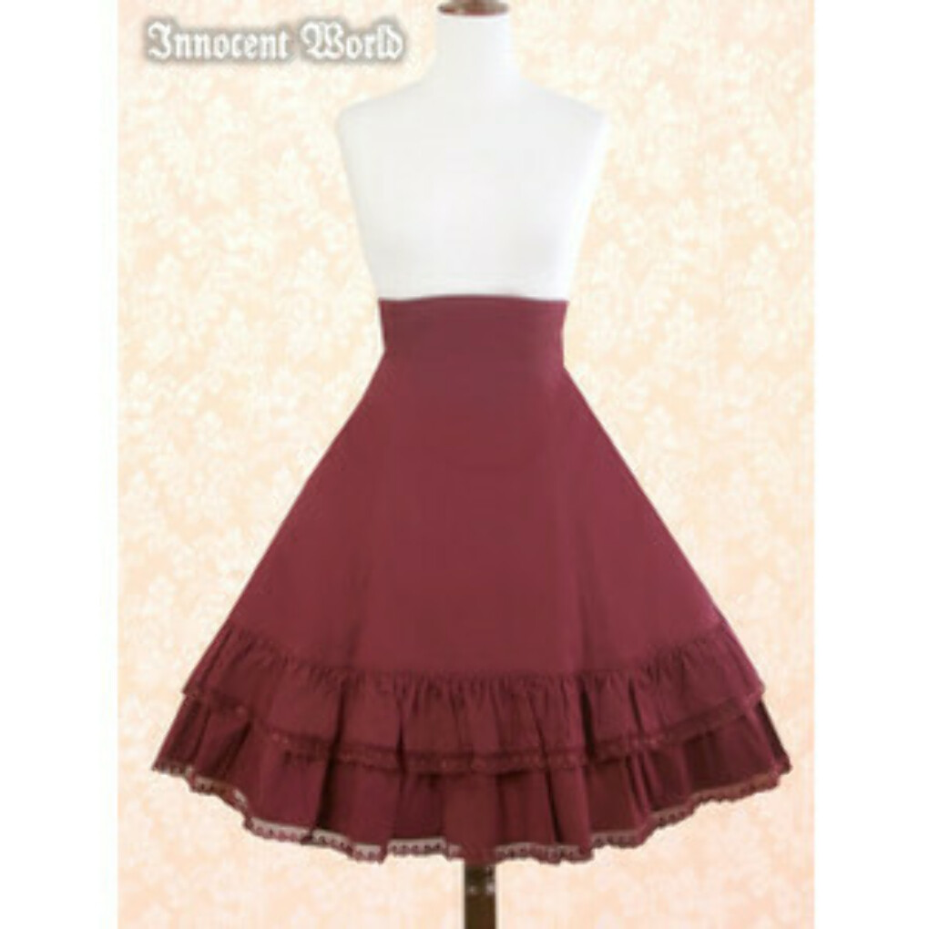Heart Lace Flare Skirt IW in Wine