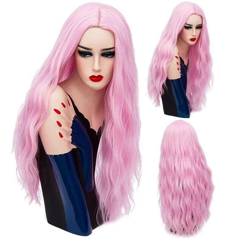 Парик розового цвета