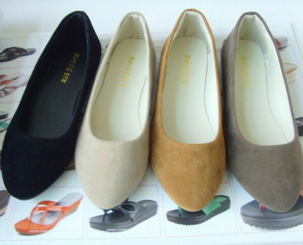 Free shipping big size 35 41 women's flat shoes fake suede ladies ballet shoes16 colors casual mother shoes women Factory price-in Flats from Shoes on Aliexpress.com