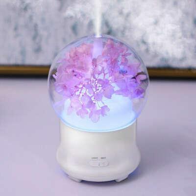 Увлажнитель воздуха SUNROZ Fresh Flower для дома и офиса 100 мл 12 В Розовый (SUN1624)