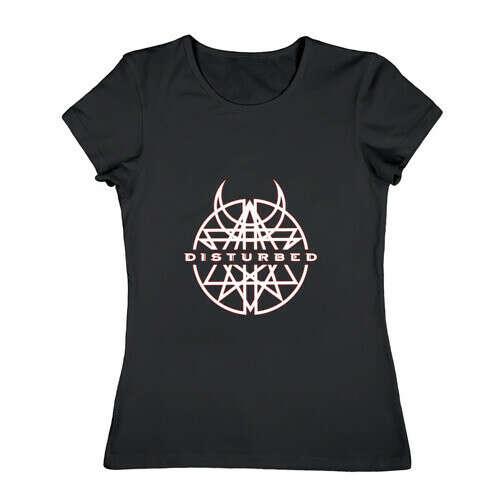 Женская футболка хлопок Disturbed
