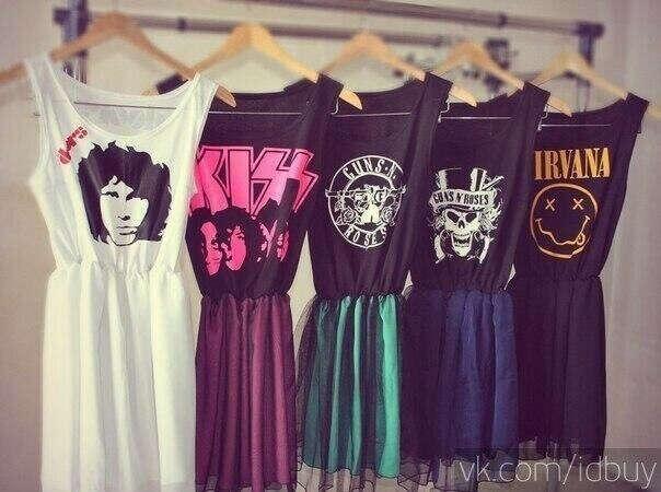 Платья с рок группами
