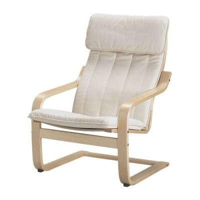 ПОЭНГ Кресло - Кресло, березовый шпон, Ранста неокрашенный  - IKEA