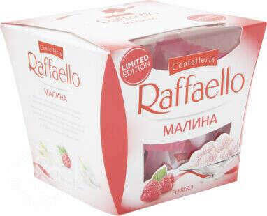 Купить Конфеты Raffaello Малина с цельным миндальным орехом в кокосовой стружке 150г с доставкой на дом по цене 275.00 руб в интернет-магазине Перекресток