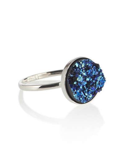 Sterling Silver Midnight Dreamer Druzy Ring