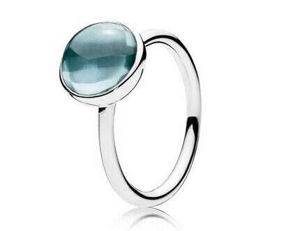 Кольцо «Цветная капля» Пандора