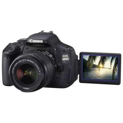 Фотоаппарат зеркальный Canon EOS 600D Kit18-55 IS Black