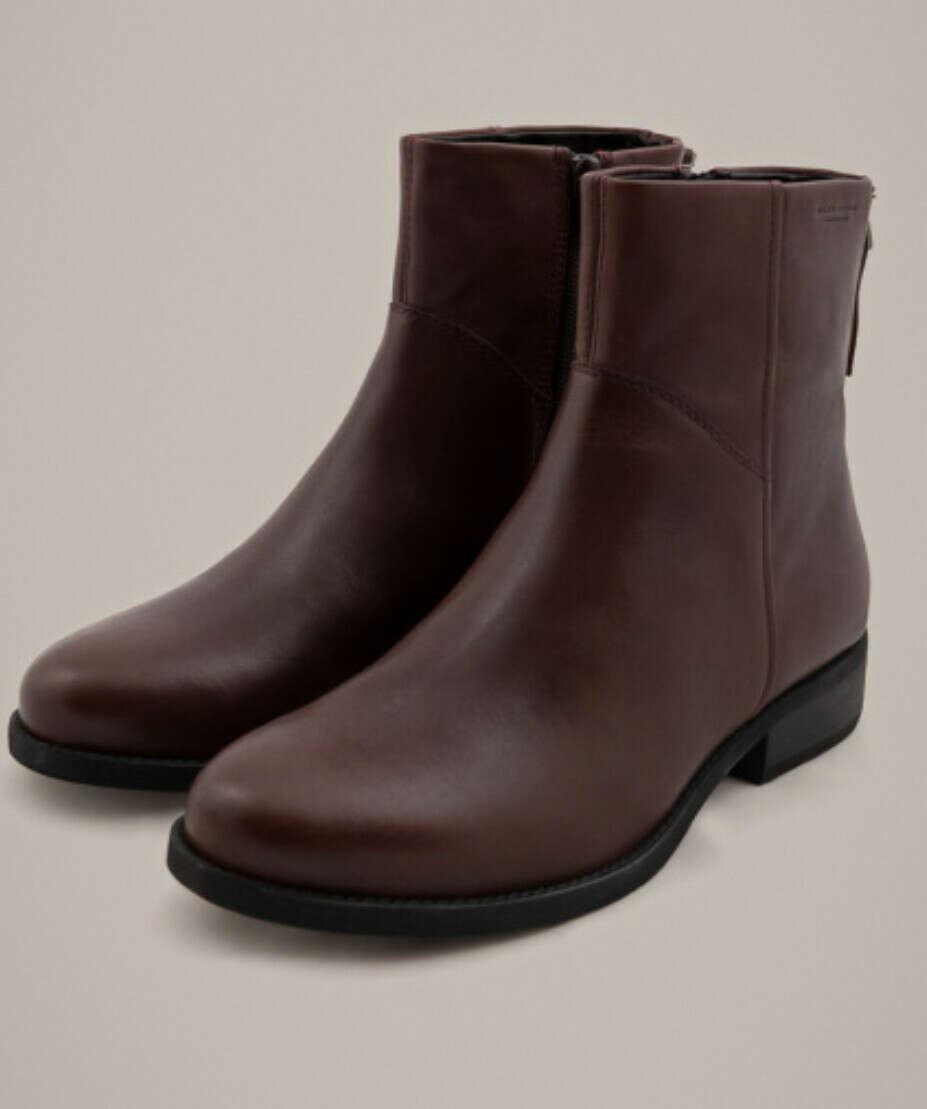 """Ботинки Vagabond """"CARY"""" с замком сзади и мехом бордо"""