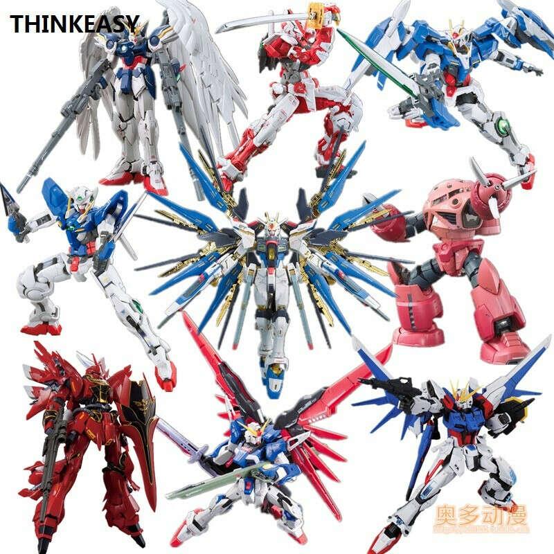 503.82 руб. 5% СКИДКА|Bandai оригинальная модель Gundam HGUC 1/144 правосудие свободу RX 78 Единорог Destiny Броня освобожденные мобильный костюм дети игрушки с держателем купить на AliExpress