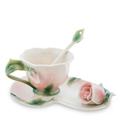 Чайная пара Роза FM-01/ 3 (Pavone)