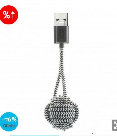 OUTLET Native Union KEY - Cable Lightning a USB tipo A, cebra