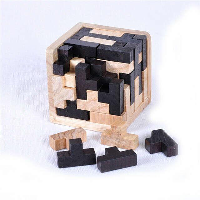 Детские деревянные Паззлы игры разведки Разработка Логические игрушки 3D Kongming