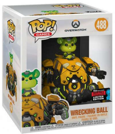 """Фигурка Funko POP Games: Overwatch – Wrecking Ball Toxic Exclusive – 6"""" Super Sized POP (15 см)"""