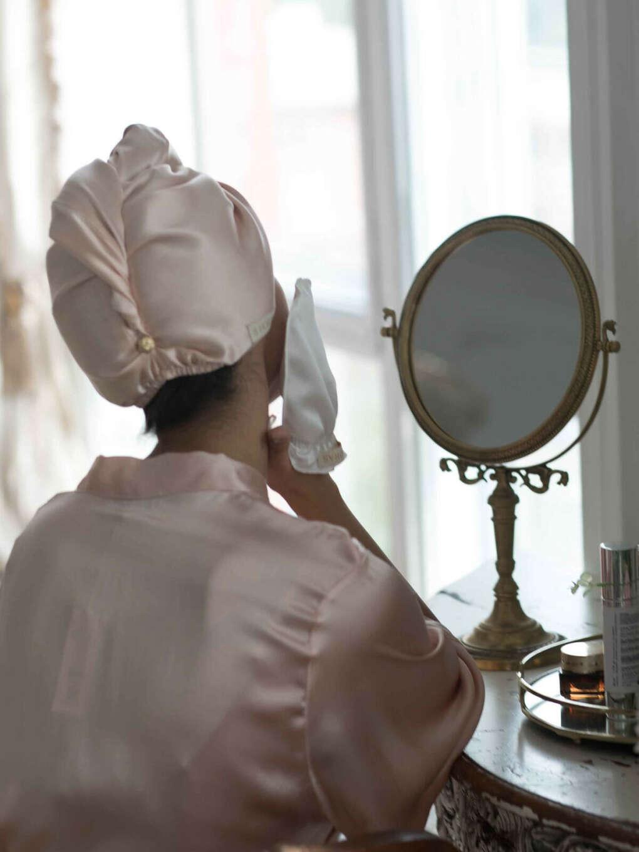 Шелковый тюрбан для сушки волос