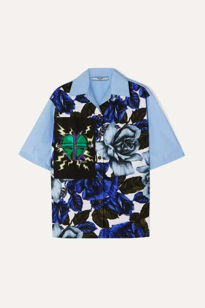 Рубашка-боулинг Prada