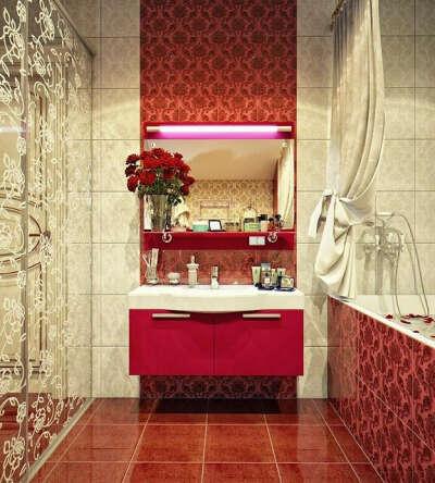 Ванную комнату в винтажном стиле