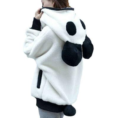 Зима 2016 корейской зимой милый молнии панда плюшевые Batwing рукавом студентки пиджаки толстовки Большой размер бесплатная доставка купить на AliExpress