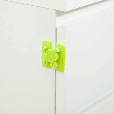 Мультфильм собака щенок Форма безопасности шкаф замок холодильник двери замки карамельный цвет пластик замки опора для детей для маленьких детей безопасная защита купить на AliExpress