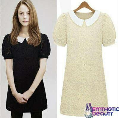 Кружевное платье с белым воротничком