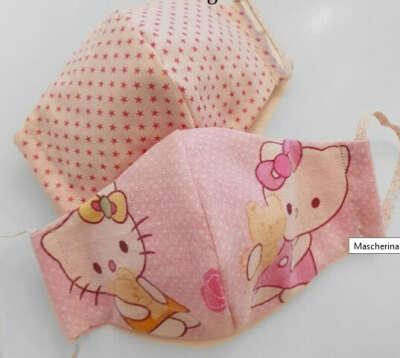 Mascherina bambini tessuto – Alta qualità 100% cotone lavabile