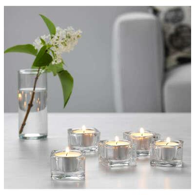Подсвечник для греющей свечи, прозрачное стекло5x5 см