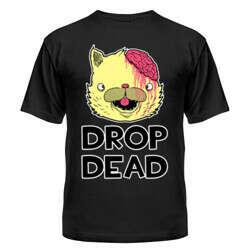 Мужская футболка Drop Dead Cat