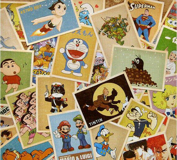 всякие старые открытки и фотокарточки