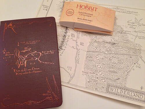 """Нелинованная записная книжка """"Hobbit"""" (темно-коричневая)"""