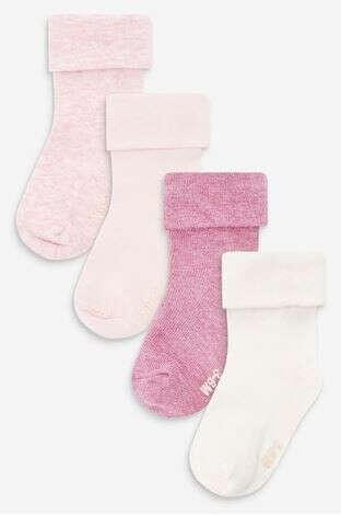 NEXT - Набор из 4 пар носков с отворотом (Младшего возраста)