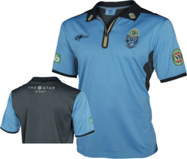 NRL STATE OF ORIGIN NSW RUGBY LEAGUE REPLICA POLO