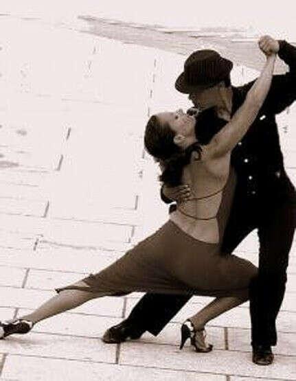 урок танго для двоих