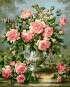 MG627 Menglei Premium раскраска по номерам «Розовые розы» | Купить в интернет-магазине