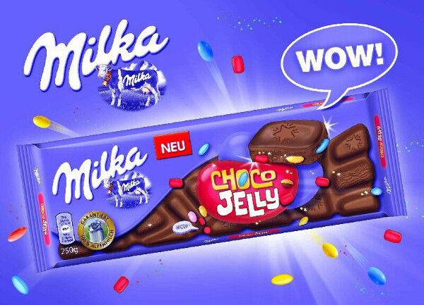 Шоколадку milka choco jelly