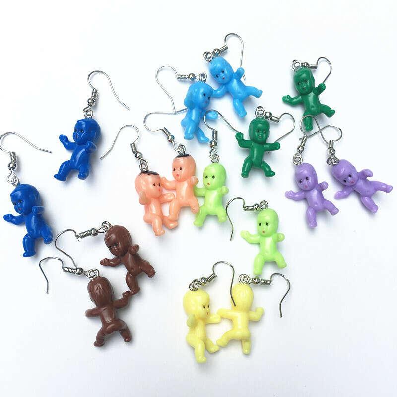 72.19руб. 31% СКИДКА|Милые 8 цветов Детские кукольные серьги для женщин и девочек Kawaii Мини Детские игрушки ручной работы серьги подвески из смолы милые ювелирные изделия|Серьги-подвески|   | АлиЭкспресс
