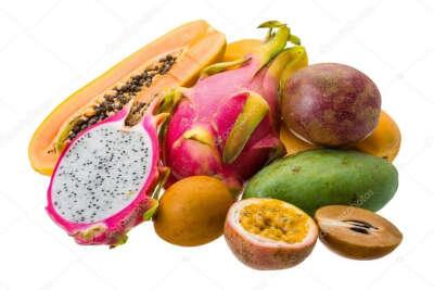 Много тайских фруктов!